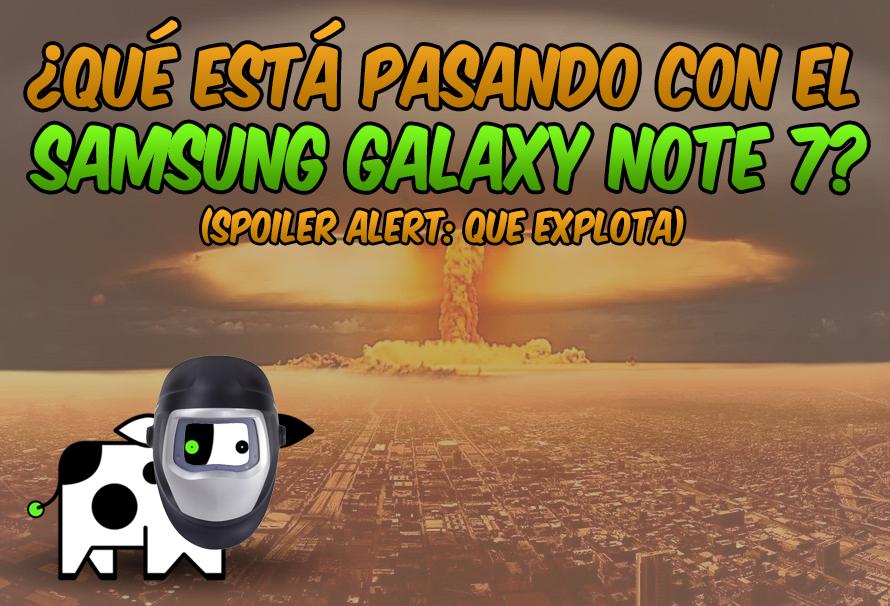 explosión samsung galaxy note 7