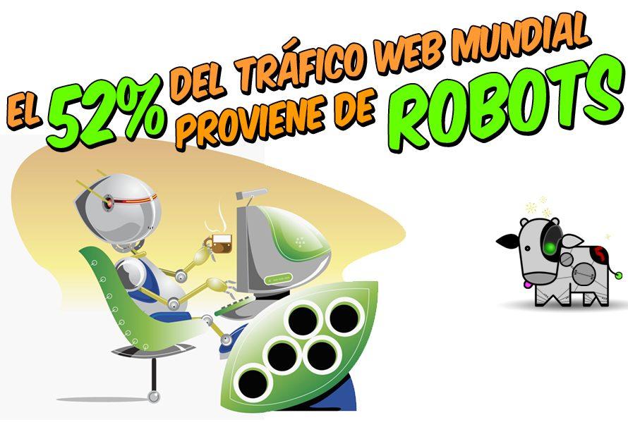 El 52% del tráfico web mundial viene de robots