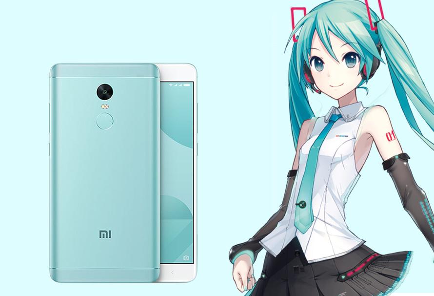 Hatsune Miku, protagonista del Xiaomi Redmi Note 4X