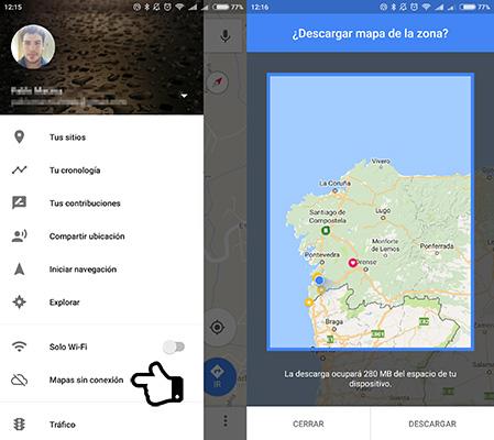 Cómo emplear Google Maps sin conexión