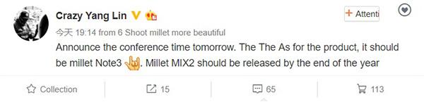 lanzamiento mi mix 2