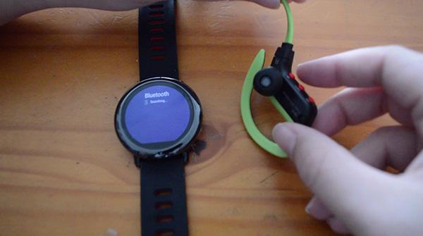Vinculando Amazfit a auriculares Bluetooth