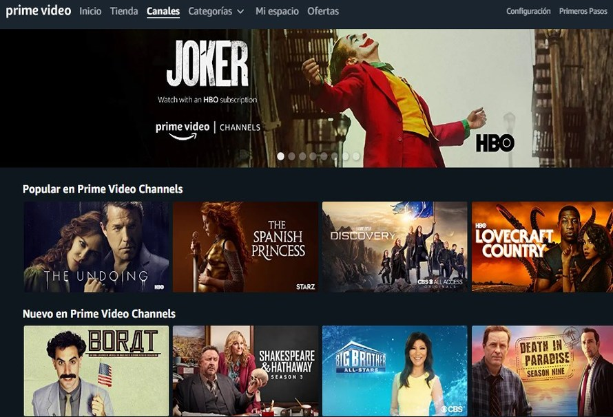 Ver Amazon Prime Video Channels