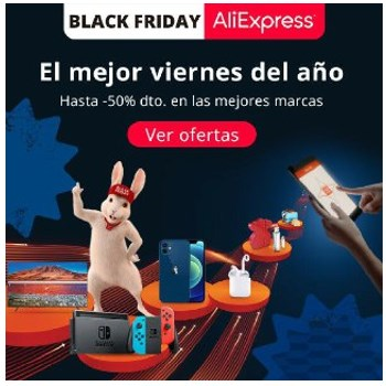 mira ofertas del Black Friday de Aliexpress