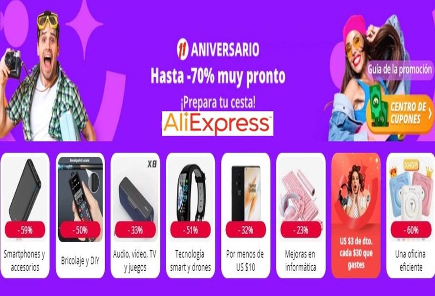 Aprovecha Ofertas y cupones del aniversario de AliExpress